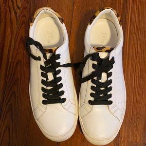 J Crew Saturday Sneakers Leopard Calf Hair